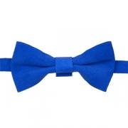 Бабочка для бармена замша L=12, B=6см; голуб.