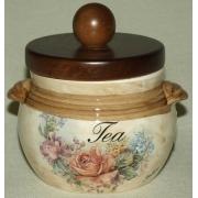 Банка для сыпучих продуктов с деревянной крышкой (чай) «Элианто» 0,5 л