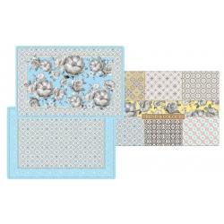 Набор из 4-х салфеток под горячее Цветовая палитра (голубая) в подарочной упак.
