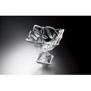 Ваза на ножке 24 см «Ангелина» прозрачная
