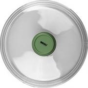 Крышка для сковороды «Д. Грин» D=24см; прозр. , зелен.