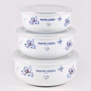 Набор из 3-х лотков с крышками «Мари Клер» синий
