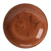Салатник «Крафт», фарфор, 1л, D=252,H=53мм, терракот