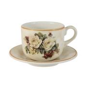 Чашка с блюдцем Роза и малина
