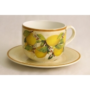 Чашка с блюдцем «Итальянские лимоны»