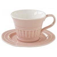 Чашка с блюдцем (розовый) Abitare без индивидуальной упаковки