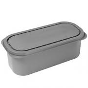 Контейнер для мороженого [25шт]; полистерол; 2.5л; H=12.8,L=17.4,B=16.2см; серый