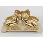Салфетница «Бантик» золотистый 6,5х15 см.