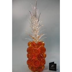 Ананас, цвет топаз, прозрачный лист d 50 14х45 см