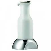 Емкость для сока/молока с крышк.и подставкой, фарфор,сталь нерж., 1.2л, H=30,L=17,B=15см