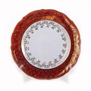 Набор тарелок «Лист красный» 19 см. 6 шт.