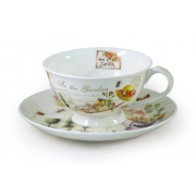 Чашка с блюдцем «Сад»