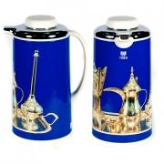 Термос метал. 1 л. со стеклянной колбой «Арабские мотивы» голубой, Tiger