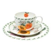 Набор: чашка, блюдце, тарелка Абрикос в подарочной упаковке