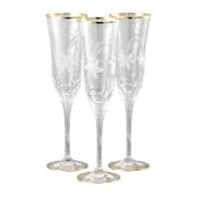 Бокал для шампанского 6 шт Эдельвейс - золото
