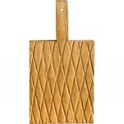 Доска для подачи прямоуг.с ручкой «Колос» светлый дуб