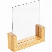 Подставка наст. для меню А6 дерев. основ. пластик