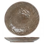 Тарелка мелкая «Кунстверк», керамика, D=260,H=35мм, зелен.,коричнев.