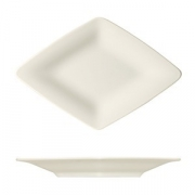 Тарелка «Рафинез», фарфор, L=16.6,B=11.2см, белый