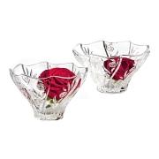 Набор из 2-х хрустальных салатников Розы