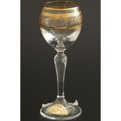 Рюмка для ликера 060 мл «Люция» декор панто+втертое золото+ золото по части декора +золотая кайма