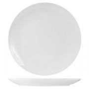 Блюдо круглое б/борта «Кунстверк», фарфор, D=34.5см, белый