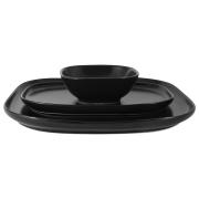 Набор Форма чёрный: 2 тарелки + салатник в подар.упаковке
