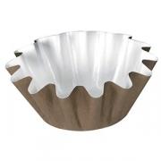 Форма конд. «Тарталетка» [160шт], алюмин., D=45,H=30мм, белый,коричнев.