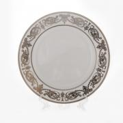 Блюдо круглое 32 см. «Александрия Платин/белый»
