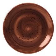 Тарелка пирожковая «Крафт», фарфор, D=150,H=13мм, терракот