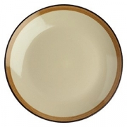 Тарелка мелкая «Фоголар», D=21см, бежев.,коричнев.