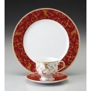 Набор 6 чайных пар 220мл «Престиж красный»