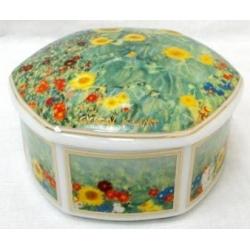 Шкатулка «Сад с подсолнухами» 10 cм, фарфор, серия Klimt