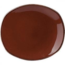 Тарелка овал «Террамеса мокка» 15.2см