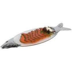 Поднос для рыбы 57.5*19.5,стекло,с хром.