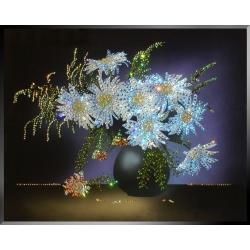 Букет из ромашек, 40х50 см, 2878 кристалла