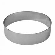 Кольцо кондитерское, сталь нерж., D=140,H=35,B=120мм, металлич.