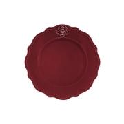 Тарелка обеденная Аральдо (бордовый)