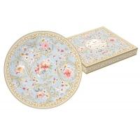 Тарелка десертная (голубая) Majestic в подарочной упаковке