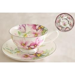 Набор для чая на 6 персон «Розовые лилии»