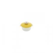 Кастрюля для сервировки с крышкой «Революшн» D=16.4, H=10.7см; белый, желт.
