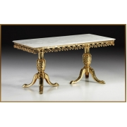 Стол прямоугольный цвет - золото 81х165х85 см
