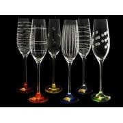 Набор бокал для шампанского Celebration разноцветн 6 штук