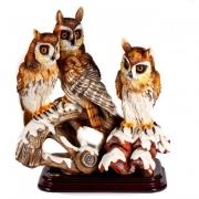 Статуэтка «Три совы» 37см