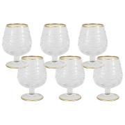 Набор: 6 хрустальных бокалов для коньяка Венето