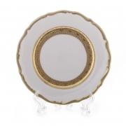 Набор тарелок «Лента золотая матовая 1» 17 см. 6 шт.