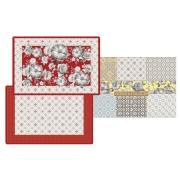 Набор из 4-х салфеток под горячее Цветовая палитра (красная) в подарочной упак.