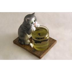 Статуэтка «Кот с рыбками»