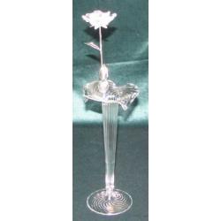 Хрустальный цветок на металлическом стебле 24 см