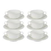 Набор: 6 суповых чашек на блюдце Шёлк